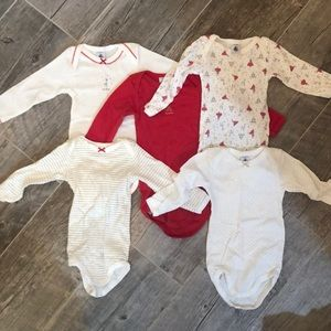 Set of 5 Christmas onesies